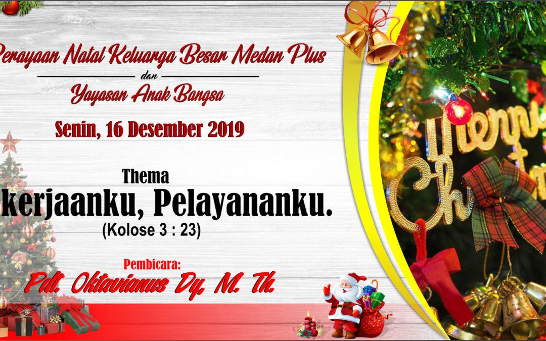 Perayaan Natal MedanPlus 2019